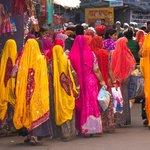 Women shopping in the Pushkar market. | Photo taken by Jean M