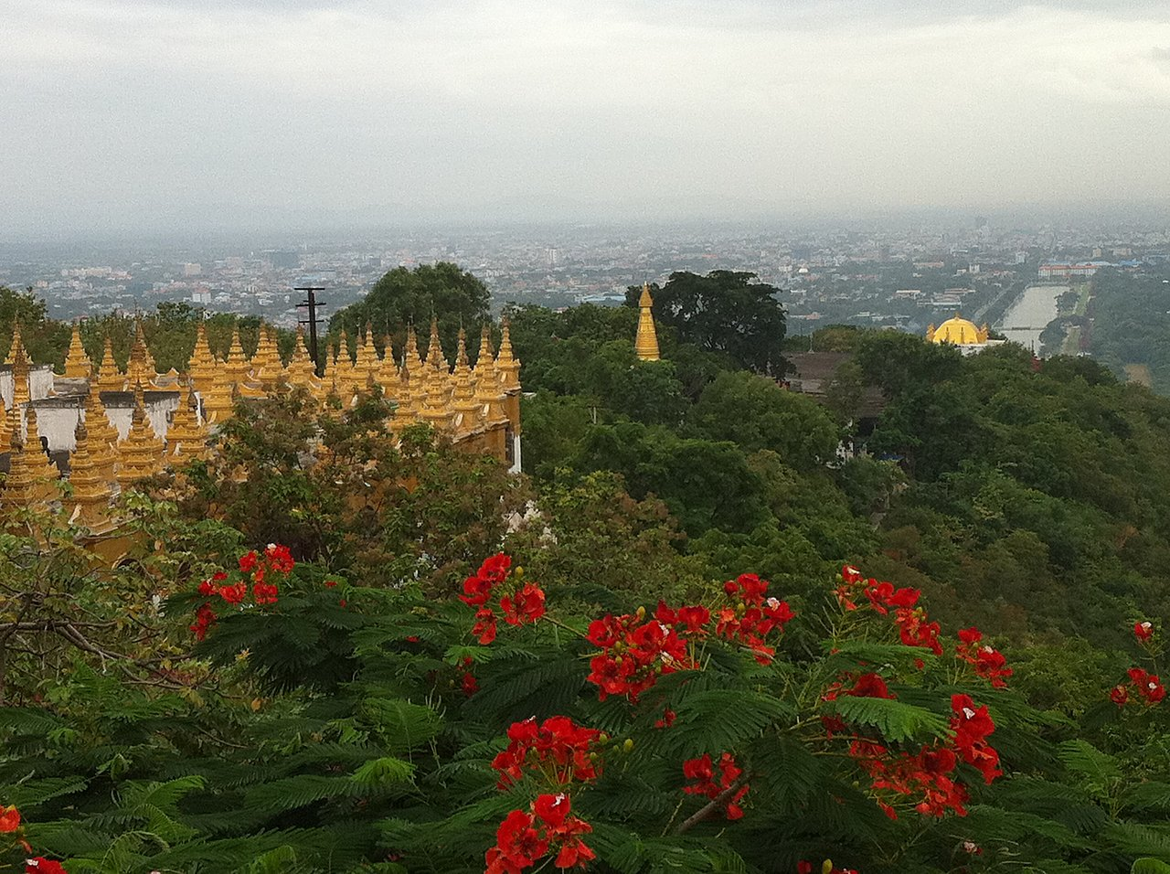 View from Mandalay Hill. | Photo taken by Rodney S