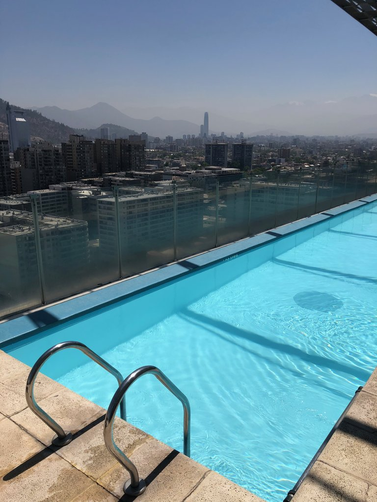 Goodbye Santiago from the rooftop pool | Photo taken by Melody B