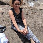 Hansa relaxing at Water Falls | Photo taken by Bharat P