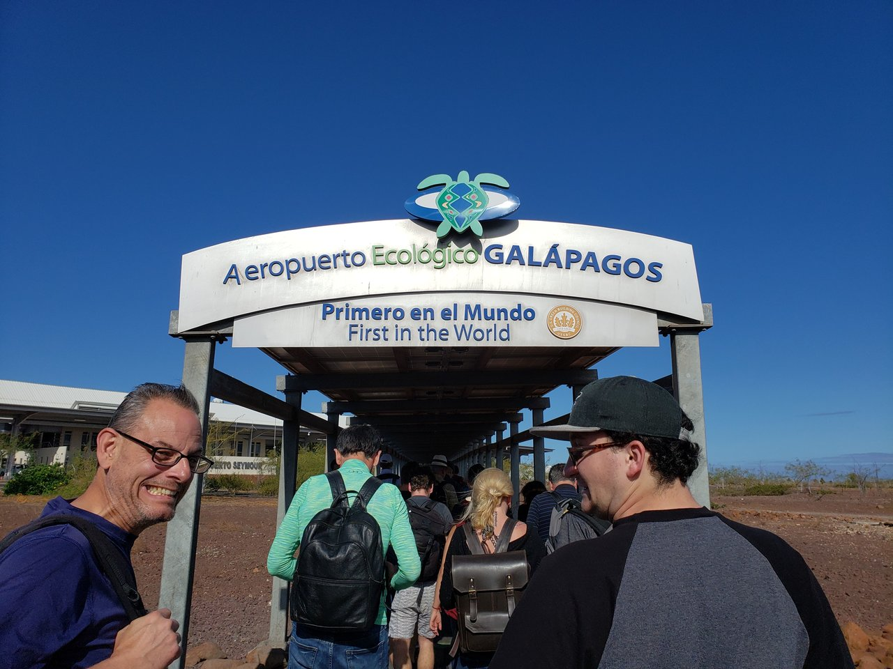 Arriving in Galapagos! | Photo taken by Peter S