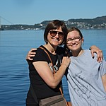 With Charlotte in Bergen | Photo taken by Roberta R