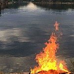 Mid-summer night fire | Photo taken by Richard T