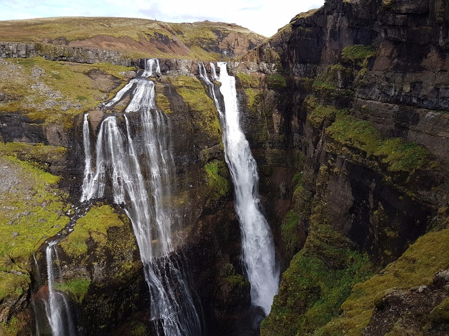 Glymur falls. My favourite hike from our trip.   Photo taken by Mathew B