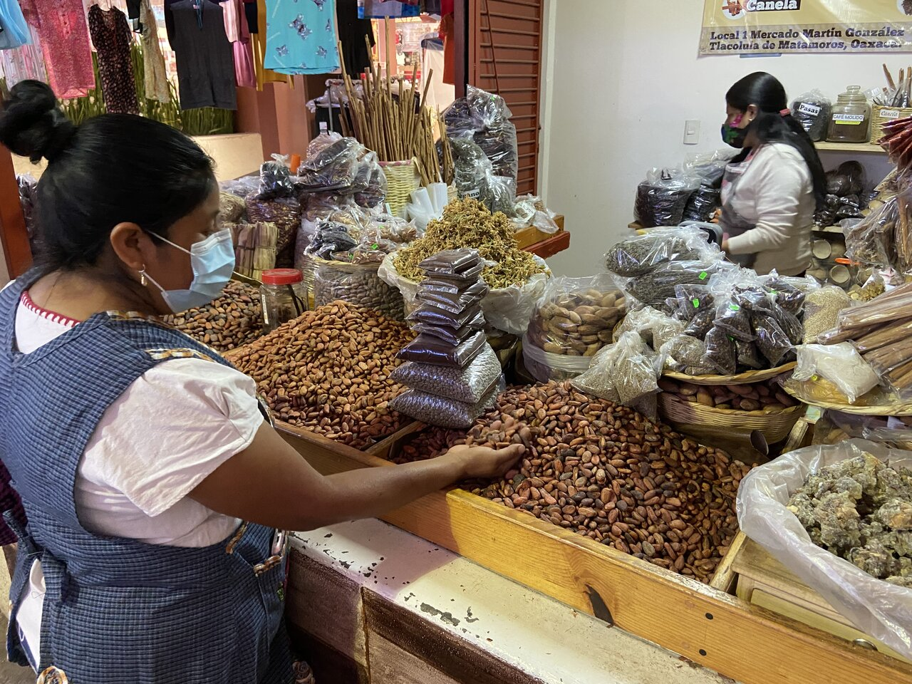 Buying fresh ingredients at the market   Photo taken by Jazmin D