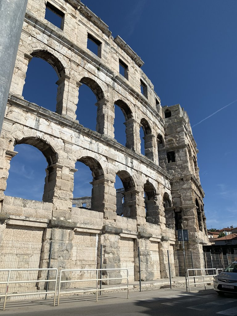 Roman Coliseum in Pula | Photo taken by Stephen G