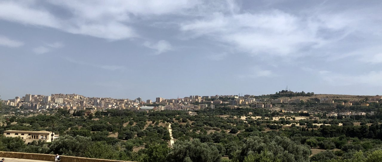 View of Agrigento from the Valley of the Temples  | Photo taken by ingrid B