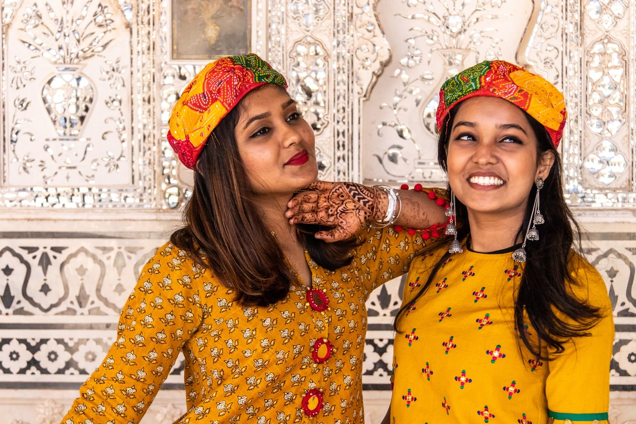 Sisters at  Jaipur City Palace | Photo taken by Jean M