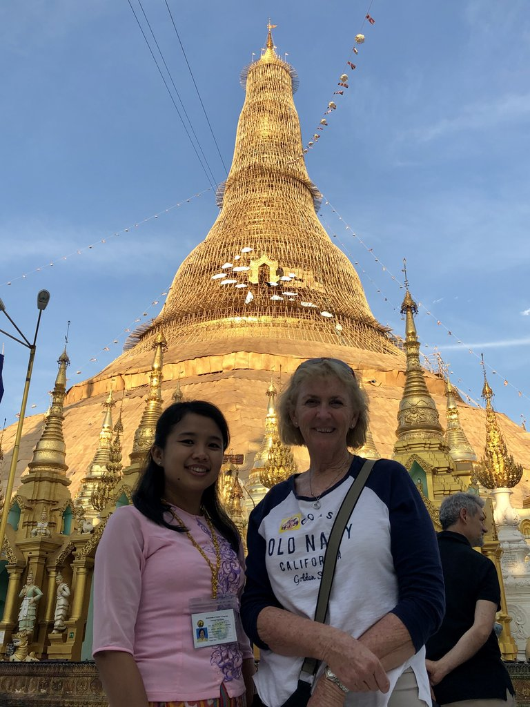 Annette & Wei Swedagon Pagoda complex | Photo taken by Gregory R