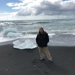 Diamond Beach is a short walk from the Jokulsarlon Glacier Lagoon boat trip area. | Photo taken by Joan F