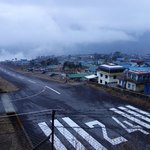 Lukla air strip | Photo taken by Dorine Harris