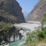 The lovely Budhi Gandaki river | Photo taken by Susan Georgette