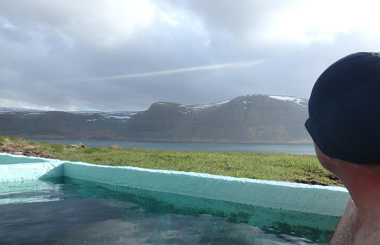 Pollurin hot tub, Talknafjordur   Photo taken by Kim C