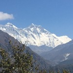 Everest from a distance | Photo taken by christine N