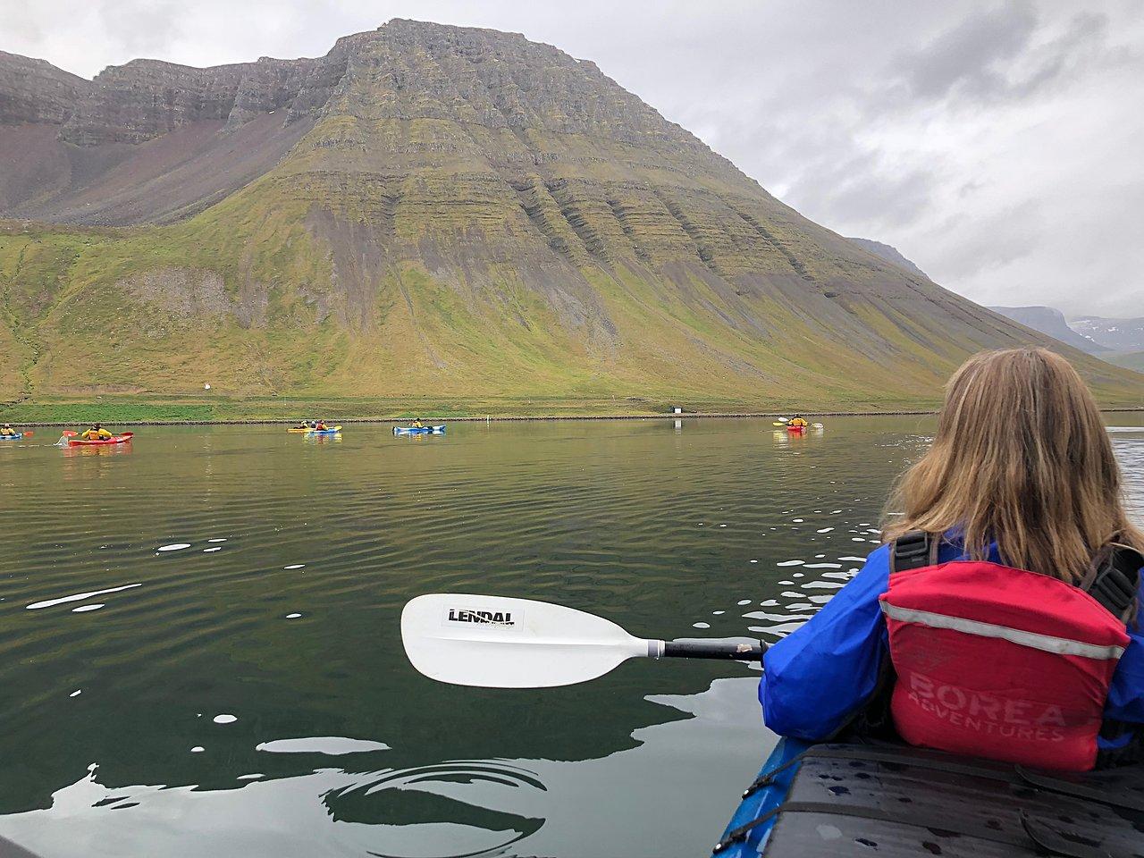 Kayaking in Isafjordur | Photo taken by Laura D