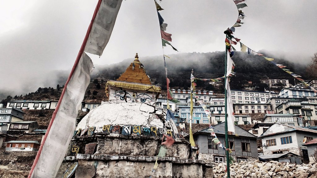 Stupa at Namche | Photo taken by Dorine H