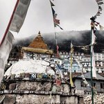 Stupa at Namche | Photo taken by Dorine Harris