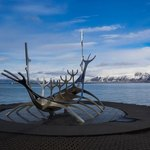 Solfar, sun voyager sculpture | Photo taken by Grace L