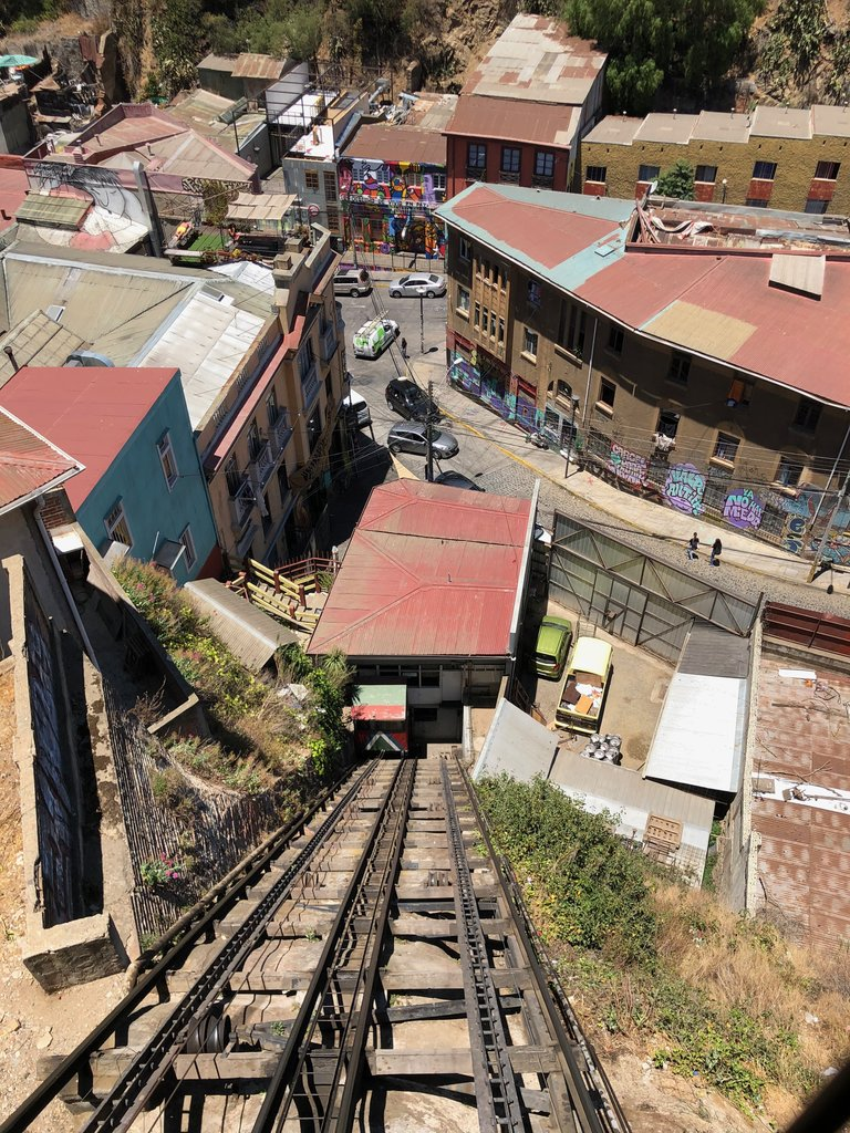 Riding the funiculars in Valparaiso | Photo taken by Melody B