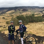 Mountain biking on Mount Etna with Luca from Sicilybiketouristservices. | Photo taken by Teresa K