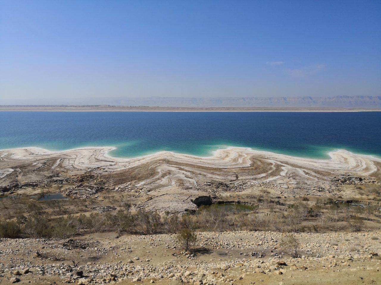 The Dead Sea from Jordan to Israel. | Photo taken by TC K