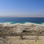 The Dead Sea from Jordan to Israel.   Photo taken by TC K