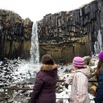 Svartifoss and my 3 girls | Photo taken by Grace L