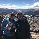 Caro and Kristin at the summit of Lares | Photo taken by Kristin M