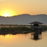 Sunset, Inle Lake | Photo taken by ALAN G