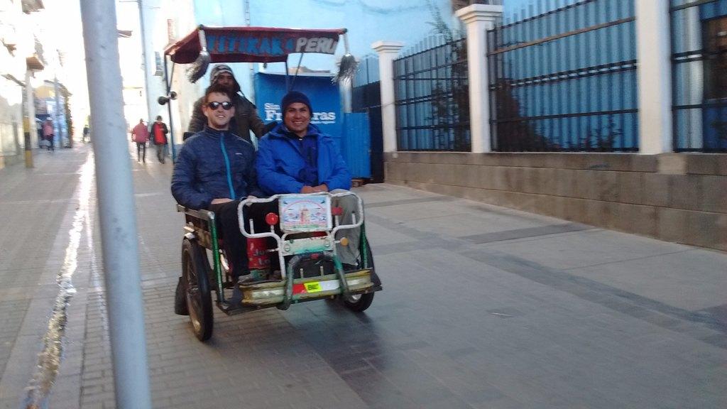 Tricycle transportation   Photo taken by Gretchen M