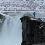 We loved the Hjalparfoss Waterfall | Photo taken by Jodi G
