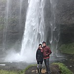 Hannah and Dick - Seljalandsfoss | Photo taken by Elizabeth R