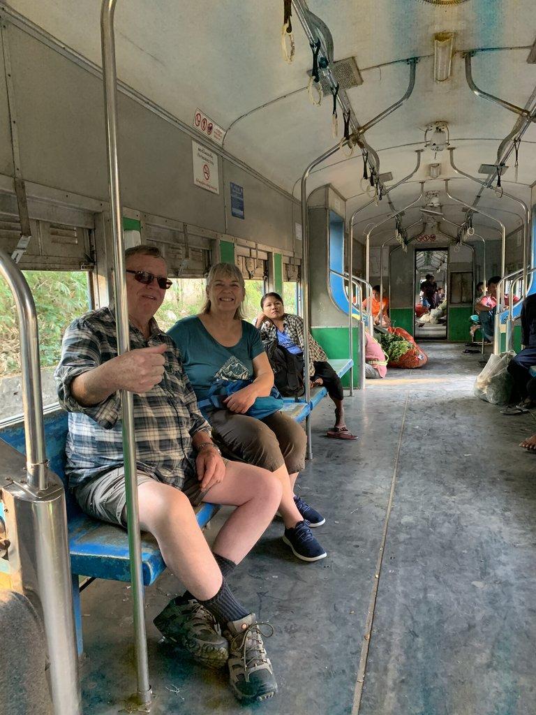 On board the circular train | Photo taken by Bonnie S
