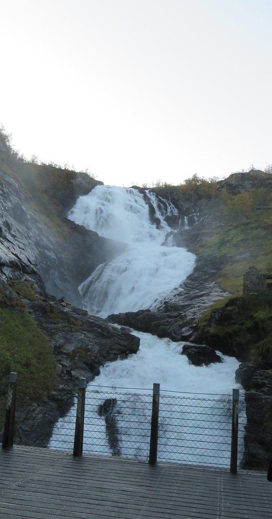 Kjosfossen Waterfall | Photo taken by Mary K