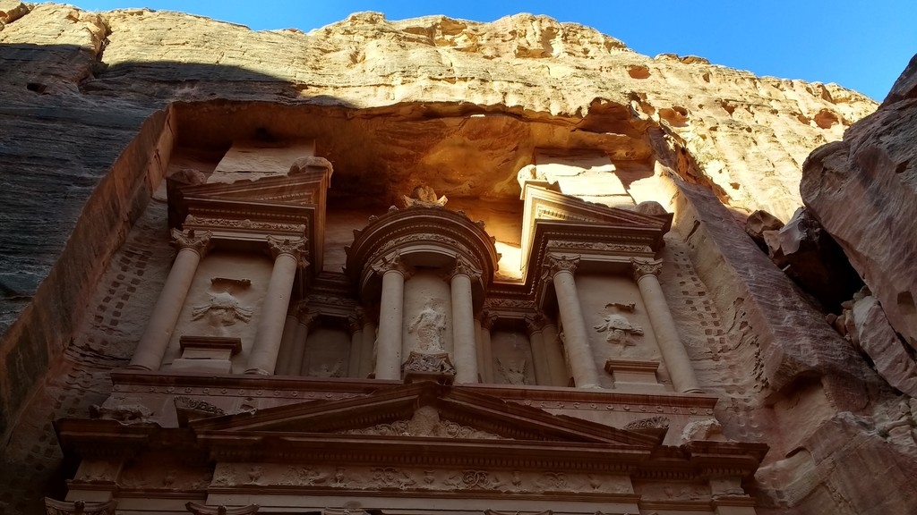 Details of Al Khazneh (The Treasury) of Petra