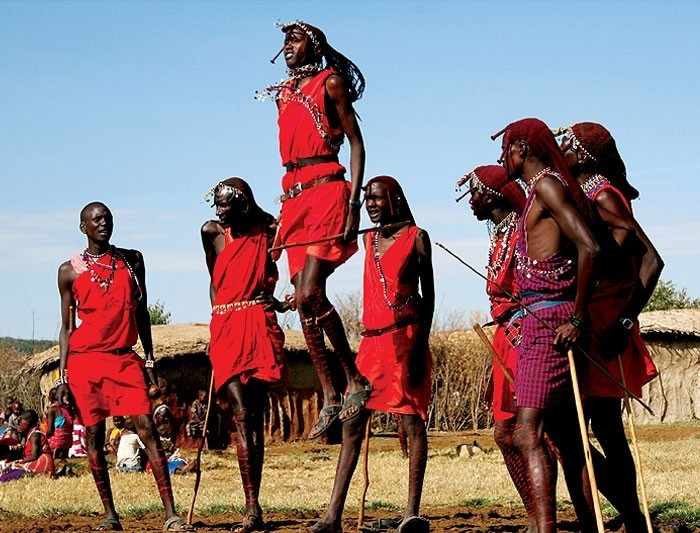 A traditional Maasai dance
