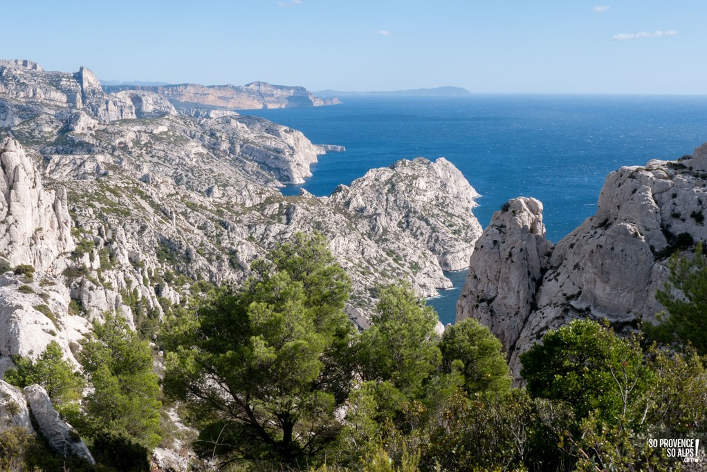 View on top of the Calanques