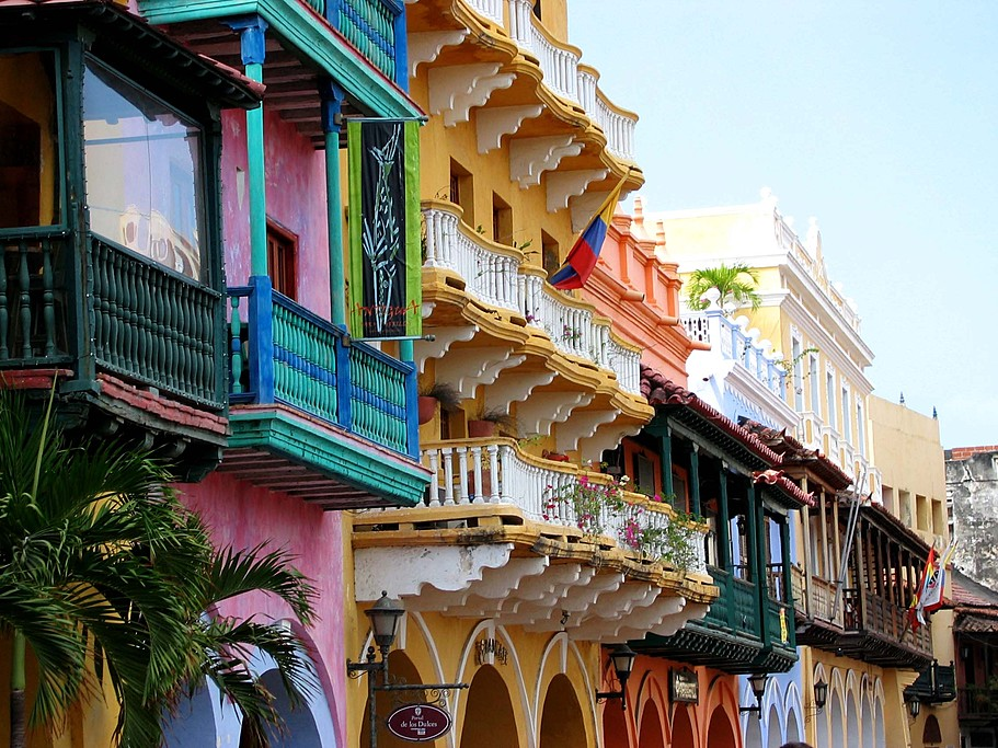 Balconies of Cartagena de Indias