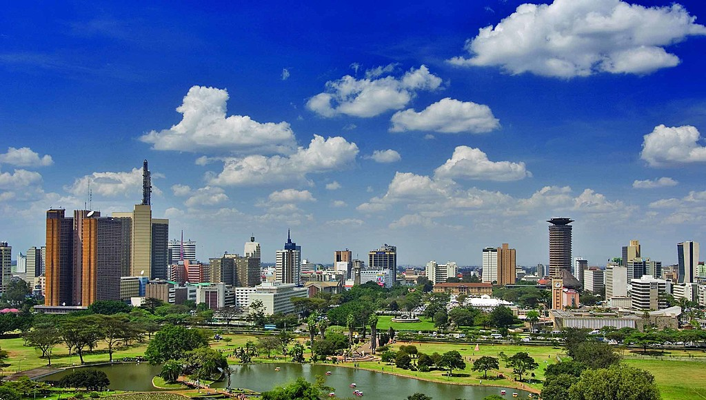A view of the city buildings in Nairobi