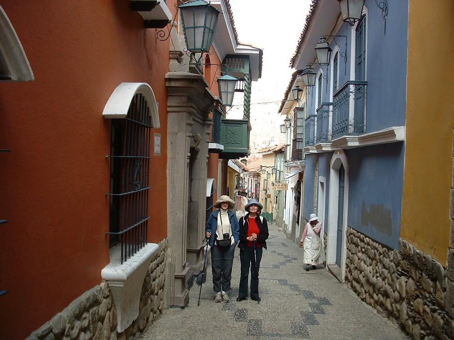 A colorful alleyway in La Paz