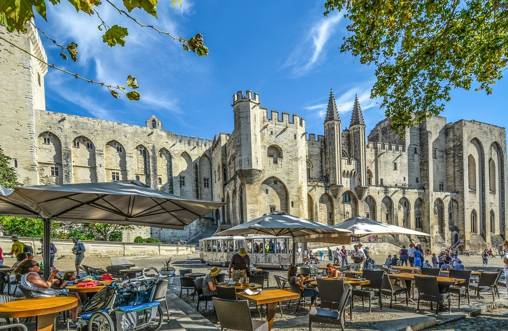 The Palais des Papes (Palace of the Popes), in Avignon