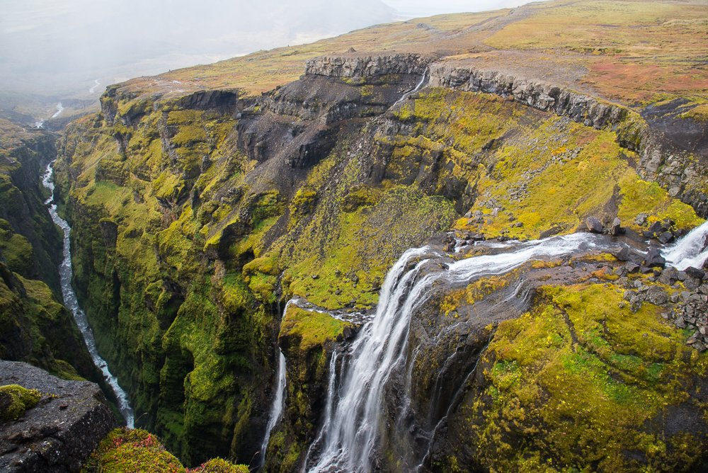 Hike up to Glymur Falls for outstanding views