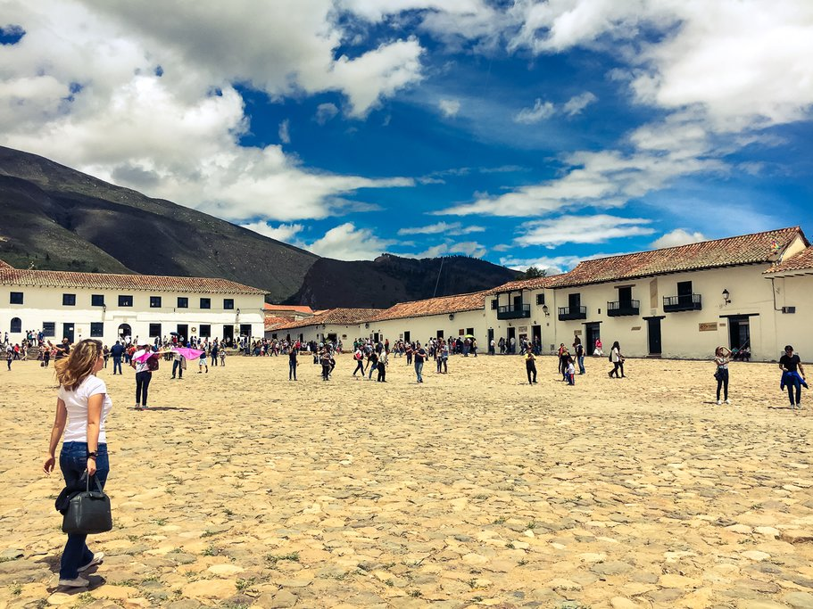 Villa de Leyva's massive central plaza