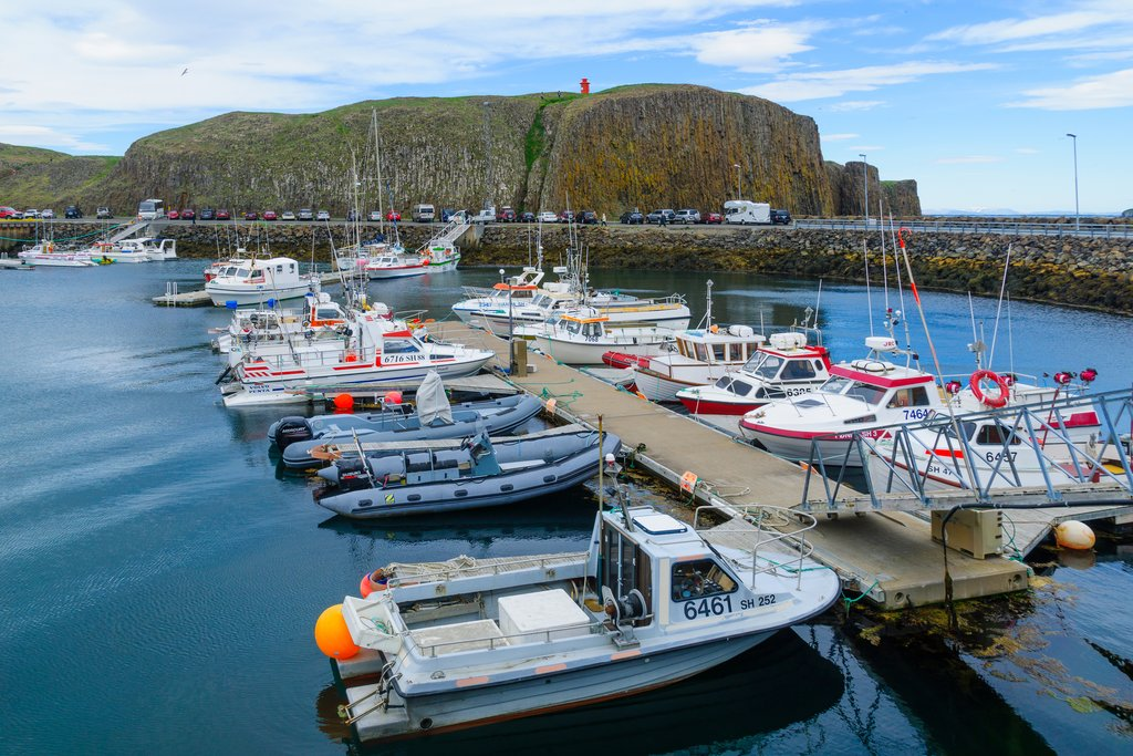 Enjoy water views while traveling to the Westfjords