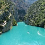 Kayaking is a fun excursion in the Verdon Gorges