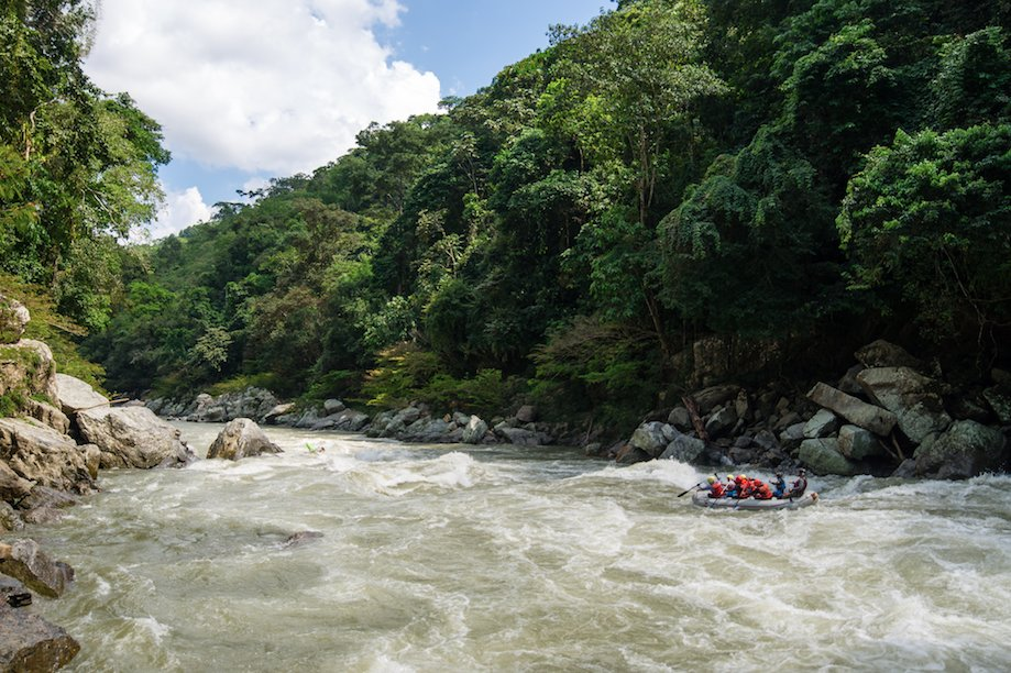 Whitewater rafting on the Río Verde