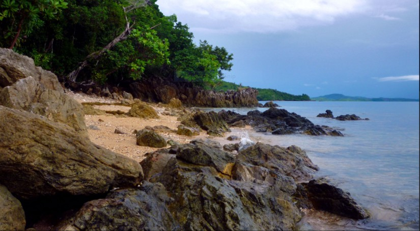 Rugged coastline near Coron