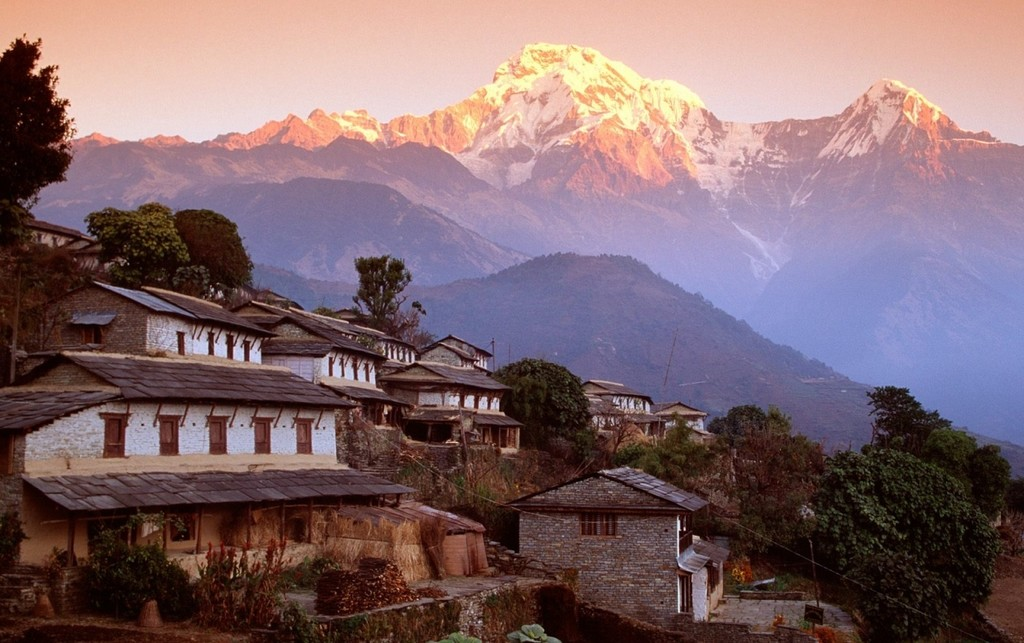 Looking out onto the Annapurnas