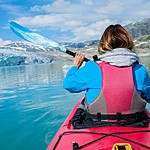 Paddle your way across a glacial lake