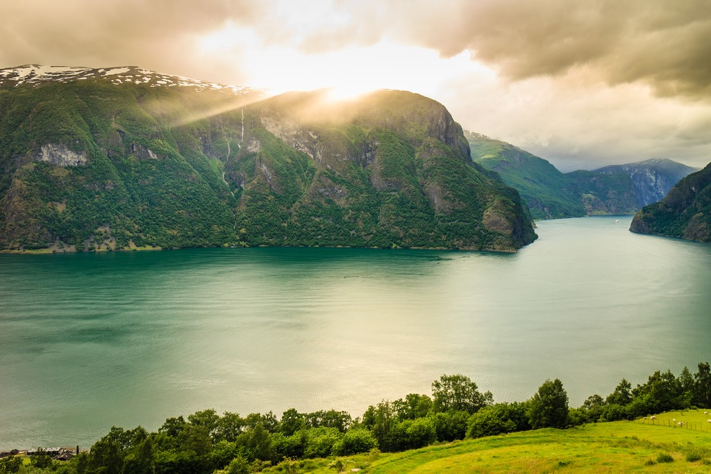 The Aurlandsfjorden is a branch of the vast Sognefjord
